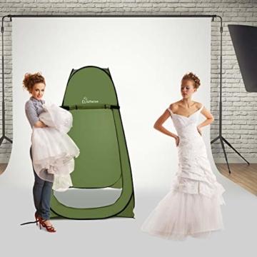 WolfWise Pop up Toilettenzelt Umkleidezelt, Camping Duschzelt Outdoor Mobile Toilette Umkleidekabine Lagerzelt - 7
