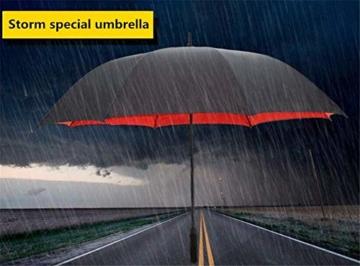 AAGYJ 150cm Golfschirm Starker winddichter halbautomatischer Langer Regenschirm Großer Geschäftsschirm für Männer und Frauen, Sonnenschirm Sonnenschirm,Rot - 4