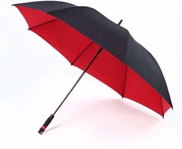 AAGYJ 150cm Golfschirm Starker winddichter halbautomatischer Langer Regenschirm Großer Geschäftsschirm für Männer und Frauen, Sonnenschirm Sonnenschirm,Rot - 5