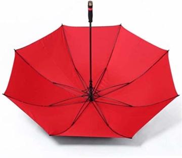 AAGYJ 150cm Golfschirm Starker winddichter halbautomatischer Langer Regenschirm Großer Geschäftsschirm für Männer und Frauen, Sonnenschirm Sonnenschirm,Rot - 6