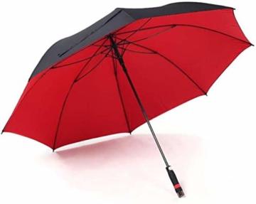 AAGYJ 150cm Golfschirm Starker winddichter halbautomatischer Langer Regenschirm Großer Geschäftsschirm für Männer und Frauen, Sonnenschirm Sonnenschirm,Rot - 7