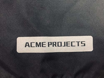 Acme Projects Regenjacke 100% wasserdicht, atmungsaktiv, Klebebandnaht, 10000 mm / 3000 g, YKK-Reißverschlüsse XXL Schwarz - 6