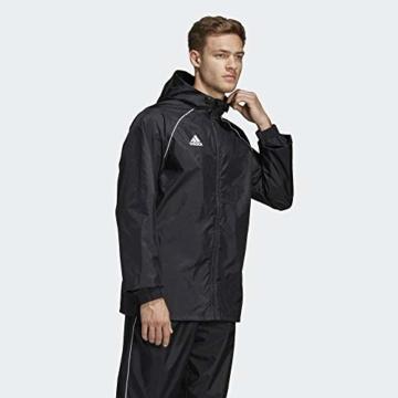 adidas Herren CORE18 RN JKT Sport Jacket, Black/White, L - 6