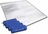 Aehma Alu Isomatte Schaummatten Schlafmatte für Camping 200x150 cm Isoliermatte Isolierdecke Faltbare Zeltmatte Bodenmatte Thermomatte Matte aus Aluminiumfolie, Ultraleicht (Silber, 200 x 150 cm) - 1