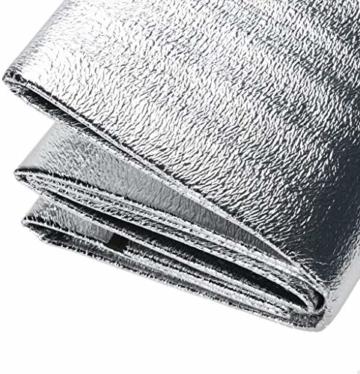Aehma Alu Isomatte Schaummatten Schlafmatte für Camping 200x150 cm Isoliermatte Isolierdecke Faltbare Zeltmatte Bodenmatte Thermomatte Matte aus Aluminiumfolie, Ultraleicht (Silber, 200 x 150 cm) - 5
