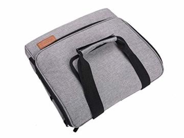 ALLCAMP 30L Kühltasche Faltbare Picknicktasche Thermo Tasche Isoliertasche Kühlkorb Kühlbox isolierbox mit 2 kühlakkus Grau - 8