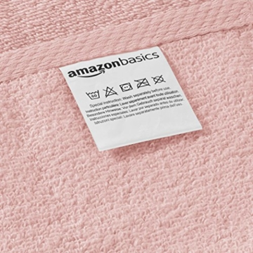 Amazon Basics - Handtuch-Set, schnelltrocknend, 2 Badetücher und 4 Handtücher - Blütenrosa, 100% Baumwolle - 4