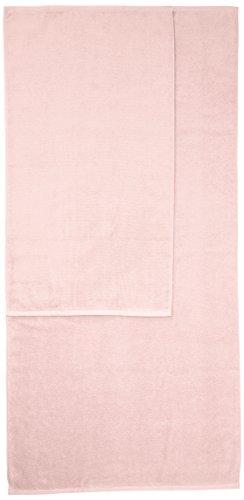 Amazon Basics - Handtuch-Set, schnelltrocknend, 2 Badetücher und 4 Handtücher - Blütenrosa, 100% Baumwolle - 5