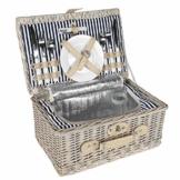 anndora Picknickkorb 2 Personen Weidenkorb mit Kühlfach + Zubehör 11 TLG. - 1