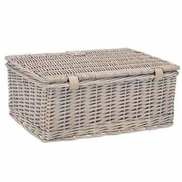 anndora Picknickkorb 2 Personen Weidenkorb mit Kühlfach + Zubehör 11 TLG. - 2