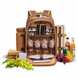 apollo walker 4 Person Picknick Rucksack Hamper Kühltasche mit Geschirr Set & Decke - 1