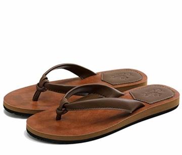 AX BOXING Zehentrenner Damen Flip Flops Schickes Einfach PU Leder Sandalen Sommerschuhe Hausschuhe Weich Strand Schwimmbad Drinnen/Draußen größe 36-42 - 6