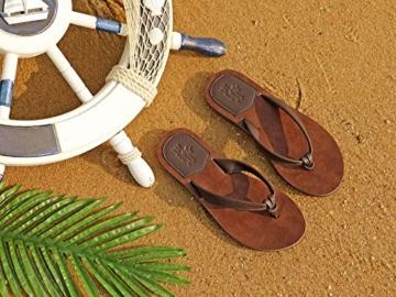 AX BOXING Zehentrenner Damen Flip Flops Schickes Einfach PU Leder Sandalen Sommerschuhe Hausschuhe Weich Strand Schwimmbad Drinnen/Draußen größe 36-42 - 7