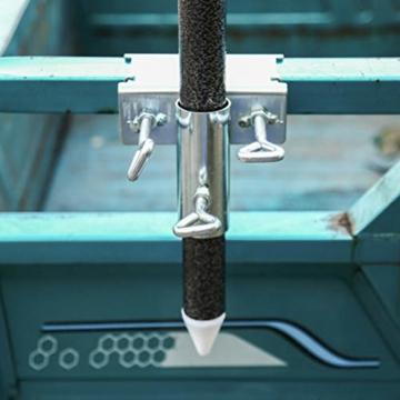 basku Schirmständer,Sonnenschirmhalter Balkongeländer, Balkon Regenschirmklemme Sonnenschirm Decking Halterung Ständer für Garten, Terrasse, Balkon, Geländer - 8