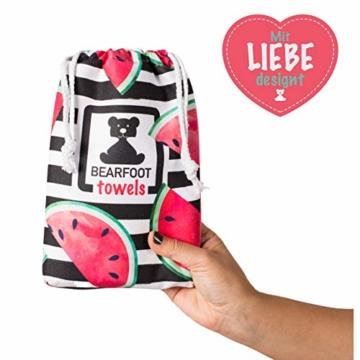 BEARFOOT Mikrofaser Handtuch mit Tasche   schnelltrocknende Handtücher - Microfaser Saunatuch, XXL Strandtuch, Badetuch groß, Reisehandtuch   Reise, Strand, Sauna (Wassermelone 160x80) - 3