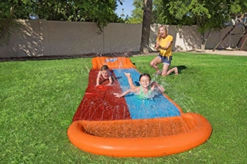 BESTWAY 52255 H2OGO Wasserrutsche Slide, Double, 549 cm Länge, Multicolor - 12