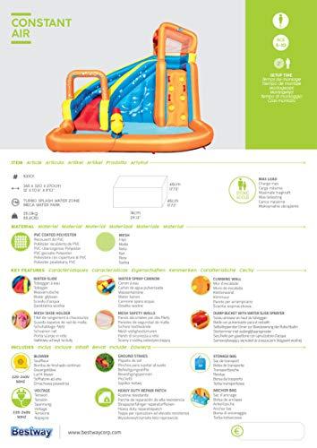 BESTWAY 53301 H2OGO Wasserpark mit Dauergebläse, Mehrfarbig, 365x320x270 cm - 13