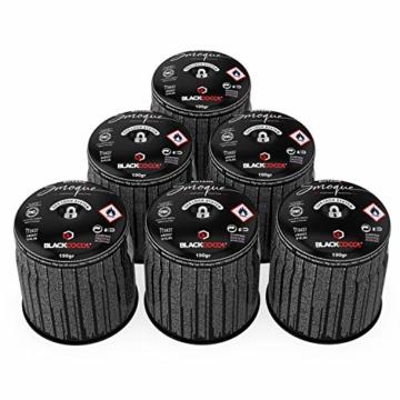 BLACKCOCO's 6X Gaskartuschen für Campingkocher Gas 190g Butangas Kartusche Stechkartusche für Gaskocher Gasgrill Camping Outdoor Kocher - Smoque - 1