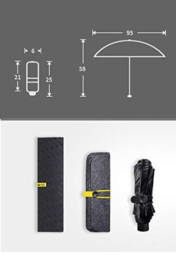 BLACKLEMON Black Lemon Designer Doppel-Sonnenschirm + Luft-Sonnenschutz Schwarzer Sonnenschirm-Faltanzug Aus Gummi C - 2