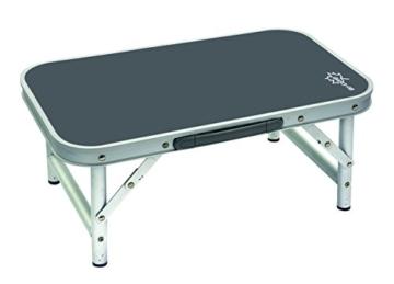 Bo-Camp Campingmöbel BC Tisch, abnehmbare Füße, Aluminium, 34x 56cm, Grau - 5