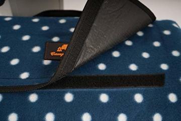CampFeuer Picknickdecke wasserdicht 200x200 cm | blau | Muster: Punkte | XXL Campingdecke | Stranddecke isoliert - 3