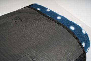 CampFeuer Picknickdecke wasserdicht 200x200 cm | blau | Muster: Punkte | XXL Campingdecke | Stranddecke isoliert - 4