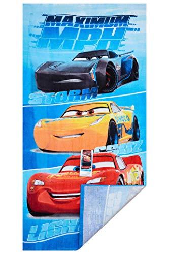 Cars Disney Maximum MPH Strandtuch, Badetuch, Handtuch 70 x 140 cm mit Storm, Cruz und Lightning McQueen aus 100% Baumwolle, für Kinder - 5