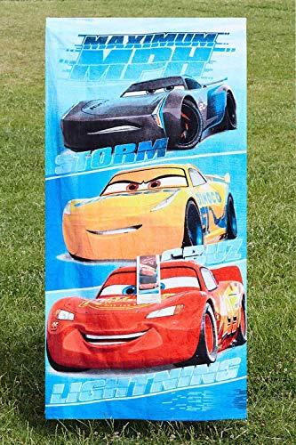 Cars Disney Maximum MPH Strandtuch, Badetuch, Handtuch 70 x 140 cm mit Storm, Cruz und Lightning McQueen aus 100% Baumwolle, für Kinder - 6