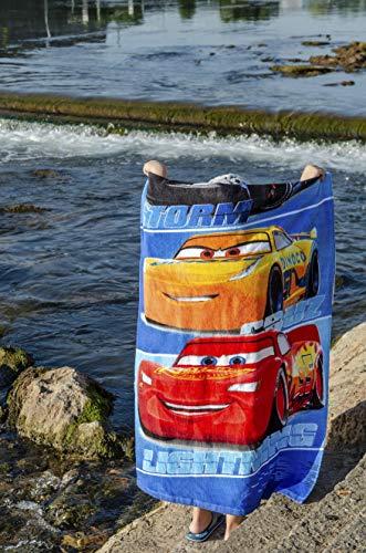 Cars Disney Maximum MPH Strandtuch, Badetuch, Handtuch 70 x 140 cm mit Storm, Cruz und Lightning McQueen aus 100% Baumwolle, für Kinder - 9