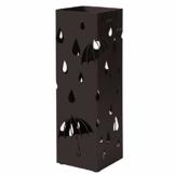 Catalpa Blume Regenschirmständer aus Metall quadratischer Schirmständer 15cm x 15cm x 49cm mit Haken Aufbewahrung für Regenschirme und Spazierstöcke - 1