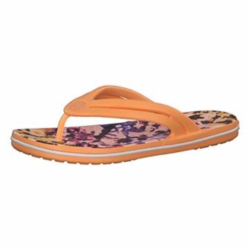 Crocs Mädchen Crocband Tie Dye Mania W Freizeit Flip Flops und Sportwear Girl, Orange (Melone), 34 EU - 1
