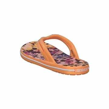 Crocs Mädchen Crocband Tie Dye Mania W Freizeit Flip Flops und Sportwear Girl, Orange (Melone), 34 EU - 5