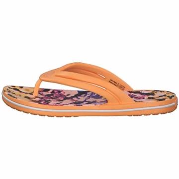 Crocs Mädchen Crocband Tie Dye Mania W Freizeit Flip Flops und Sportwear Girl, Orange (Melone), 34 EU - 6