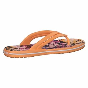 Crocs Mädchen Crocband Tie Dye Mania W Freizeit Flip Flops und Sportwear Girl, Orange (Melone), 34 EU - 7