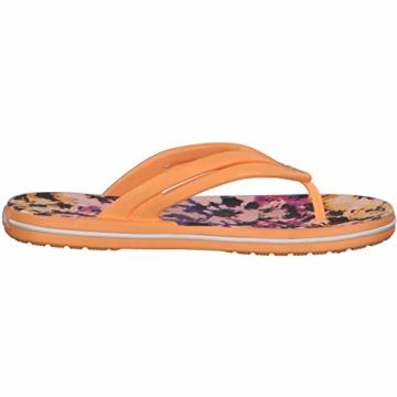 Crocs Mädchen Crocband Tie Dye Mania W Freizeit Flip Flops und Sportwear Girl, Orange (Melone), 34 EU - 8