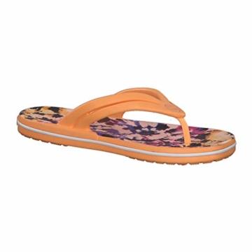 Crocs Mädchen Crocband Tie Dye Mania W Freizeit Flip Flops und Sportwear Girl, Orange (Melone), 34 EU - 9