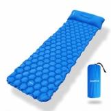 Deeplee Camping Isomatte,Einzelne Schlafmatte Ultraleichte Isomatte für Outdoor,Feuchtigkeitsfes für Wandern,Backpacking,Camping,Strand(Blau) - 1