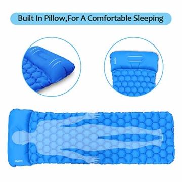 Deeplee Camping Isomatte,Einzelne Schlafmatte Ultraleichte Isomatte für Outdoor,Feuchtigkeitsfes für Wandern,Backpacking,Camping,Strand(Blau) - 3
