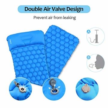 Deeplee Camping Isomatte,Einzelne Schlafmatte Ultraleichte Isomatte für Outdoor,Feuchtigkeitsfes für Wandern,Backpacking,Camping,Strand(Blau) - 5