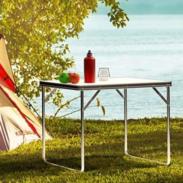 Deuba Alu Campingtisch Klappbar 80x60cm Mit Tragegriff Leicht & Faltbar Klapptisch Beistelltisch Falttisch Koffertisch Camping - 4