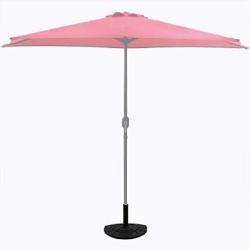 Deuba Sonnenschirmständer halbrund 9 kg Blumen Design schwarz Gussoptik Schirmständer wetterfest Sonnenschirm Ständer - 3