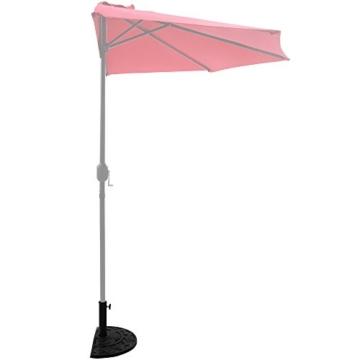 Deuba Sonnenschirmständer halbrund 9 kg Blumen Design schwarz Gussoptik Schirmständer wetterfest Sonnenschirm Ständer - 4