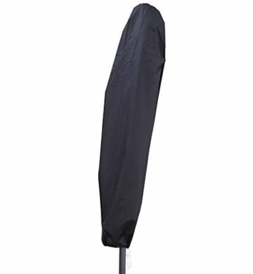 Deuline® Alu Sonnenschirm Ø300cm Gartenschirm Marktschirm Ampelschirm mit Kurbel Alu Mast UV Schutz Wasserabweisende Bespannung gratis Schutzhülle Mallorca Grau 521801 - 7