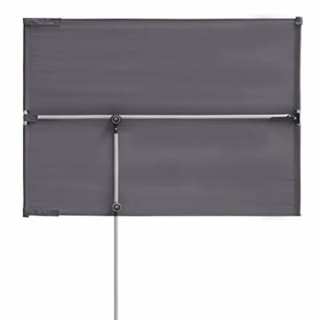 Doppler Active Balkonblende – Rechteckiger Sonnenschirm ideal für den Balkon –Plus Sichtschutz – 180x130 cm – Anthrazit - 3