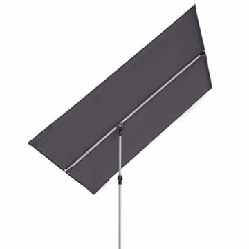 Doppler Active Balkonblende – Rechteckiger Sonnenschirm ideal für den Balkon –Plus Sichtschutz – 180x130 cm – Anthrazit - 1