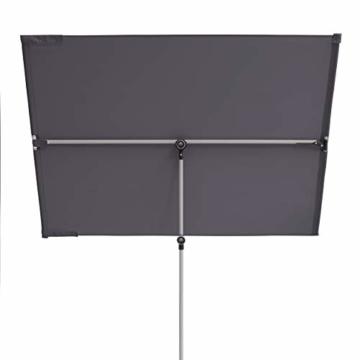 Doppler Active Balkonblende – Rechteckiger Sonnenschirm ideal für den Balkon –Plus Sichtschutz – 180x130 cm – Anthrazit - 5