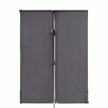 Doppler Active Balkonblende – Rechteckiger Sonnenschirm ideal für den Balkon –Plus Sichtschutz – 180x130 cm – Anthrazit - 6
