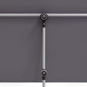 Doppler Active Balkonblende – Rechteckiger Sonnenschirm ideal für den Balkon –Plus Sichtschutz – 180x130 cm – Anthrazit - 7