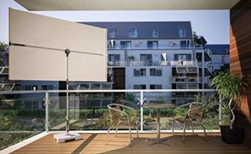Doppler Active Balkonblende – Rechteckiger Sonnenschirm ideal für den Balkon –Plus Sichtschutz – 180x130 cm – Anthrazit - 8