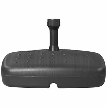 Doppler Balkon PE Füllsockel - Für Sonnenschirme bis ca. 180 cm - Mit Sand und Wasser befüllbar - 17 Liter/20 kg - Anthrazit - 2